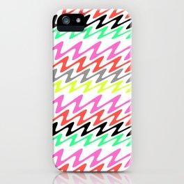 Zig Zag Stripes iPhone Case