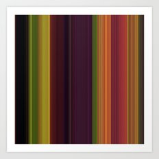 Fall stripes 1  Art Print