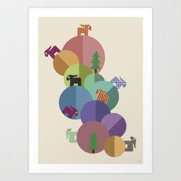 On Planets Art Print