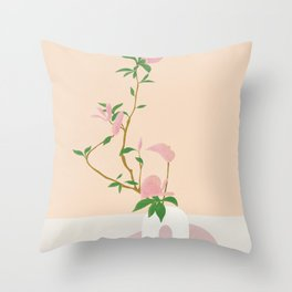 Flowers in the Vase II Throw Pillow