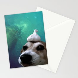 Dog, Garlic & Space Stationery Cards