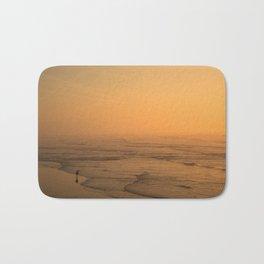 Sunset in the beach of Biarritz Bath Mat