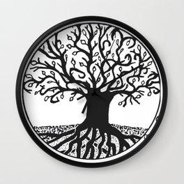 """Tree of Spring"" Hand-Drawn by Dark Mountain Arts Wall Clock"