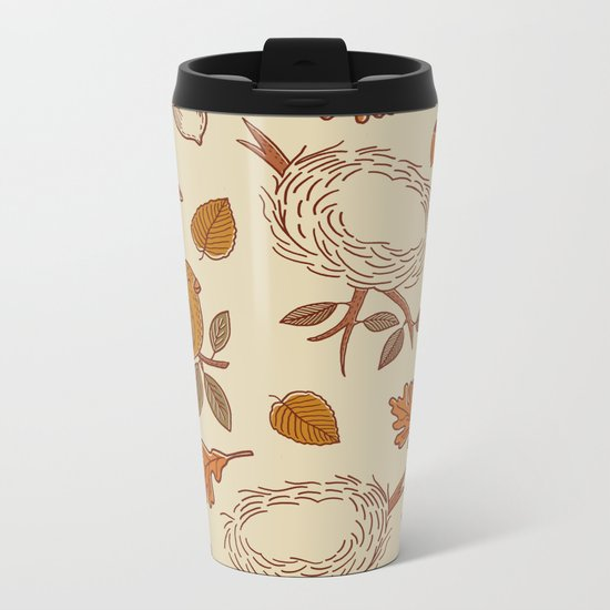 Fly Away Fall Metal Travel Mug