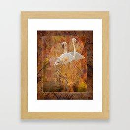 Flamingo Dance Framed Art Print