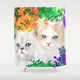 Sam and Sebastian Shower Curtain