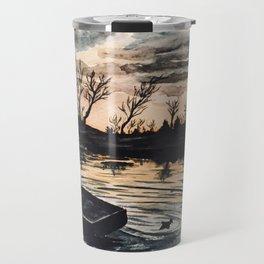 Watercolor Sunset Travel Mug