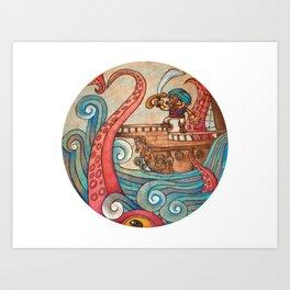 Simbad: Monsters of deep sea. Art Print