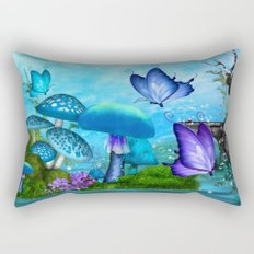 Mystic Whimsey Butterfly Pond Fantasy Rectangular Pillow
