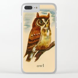 Owl Painting Clear iPhone Case