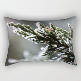 Pine Tree Covered with Snow Rectangular Pillow