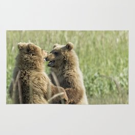 Brown Bear Cubs - Face Off Rug