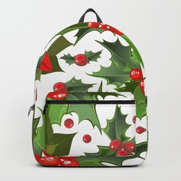 Christmas berry pattern Backpack