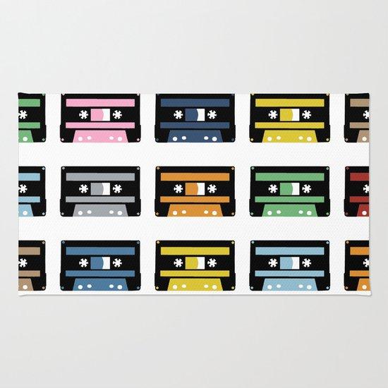 Rainbow Black Tapes Rug