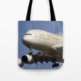 Etihad Airlines Airbus A380 Tote Bag