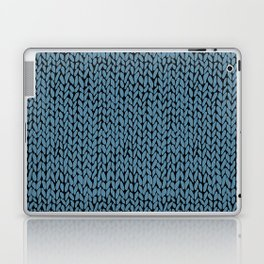 Hand Knit Niagra Blue Laptop & iPad Skin