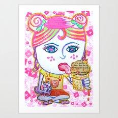 LeeLoo the Icecream Thief Art Print