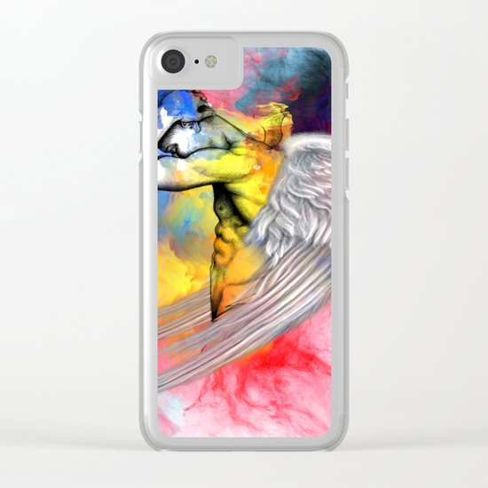 angel male nude Clear iPhone Case