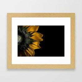 Backside of Sunflower Brush Strokes Digital Artwork Framed Art Print