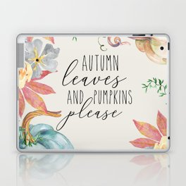 autumn leaves and pumpkins please Laptop & iPad Skin