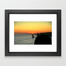 Sunsetting over the Great Southern Ocean Framed Art Print