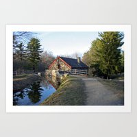 cabin Art Prints featuring Cabin by glomung