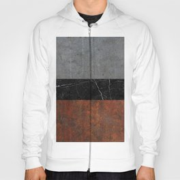 Concrete, Marble and Rusted Iron Abstract Hoody