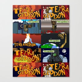 Tetrageddon - Tetris For Us FPS Gamers Canvas Print