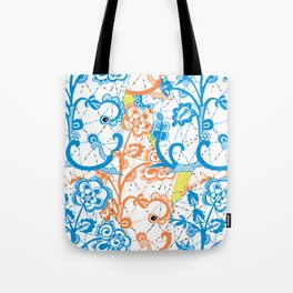 Cobwebbed Flower Lace Pattern Tote Bag