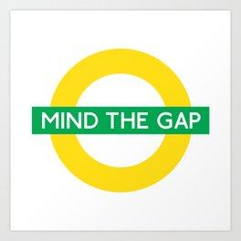 NCFC - Mind The Gap Design Art Print