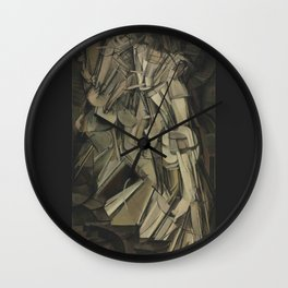 Marcel Duchamp - Nude Descending a Staircase, No. 2 Wall Clock
