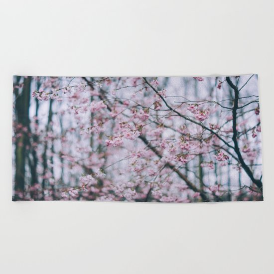 Cherry Blossom forest Beach Towel