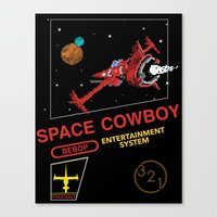 cowboy bebop Canvas Prints featuring NES Cowboy Bebop by IF ONLY
