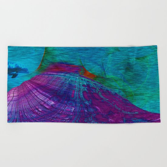 Undersea Exploration Beach Towel