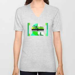 Waiting for the show to begin (Test Pattern 3) Unisex V-Neck