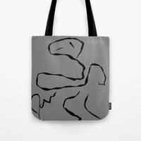 dave matthews Tote Bags featuring Dave by James Eye