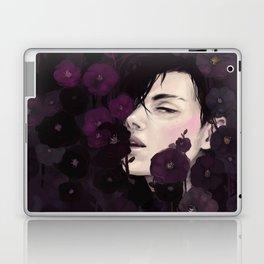 Black Magic Hollyhocks Laptop & iPad Skin