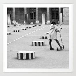 Palais Royal, Paris in Black & White Art Print