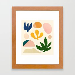 Abstraction_Floral_001 Framed Art Print