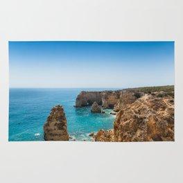Beach at Lagoa, Algarve, Portugal II Rug