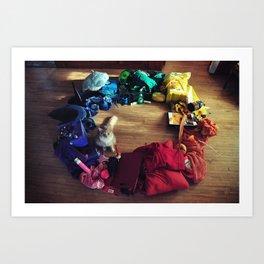 Cat Color Wheel Art Print