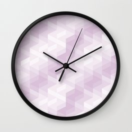 Tiles background in different shades of purple made with triangles mosaic Wall Clock