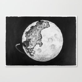 Party in the Moon Canvas Print