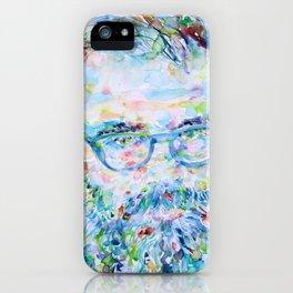 ALLEN GINSBERG - watercolor portrait iPhone Case