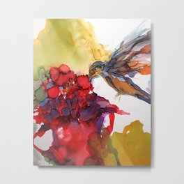 Litte Yummy Hummingbird Metal Print