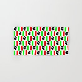 Mix of flag: Corsica and Italy Hand & Bath Towel