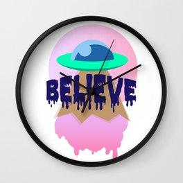 believe in ice cream Wall Clock