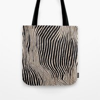 calligraphy Tote Bags featuring it's waving calligraphy by Anna Grunduls
