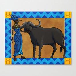 The Qasa and the Buffalo Canvas Print