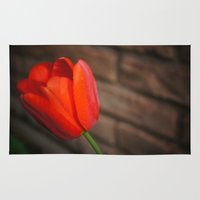 tulip Area & Throw Rugs featuring Tulip by IstariDanae